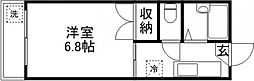 コーポ長谷川[201号室]の間取り