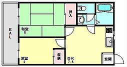 兵庫県神戸市長田区明泉寺町2丁目の賃貸アパートの間取り