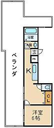 大阪府枚方市香里園桜木町の賃貸マンションの間取り
