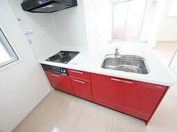 トレフルコートのシステムキッチン(ガス3口グリル)冷蔵庫レンジ等用意できます