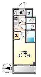 エスレジデンス鶴舞(S−RESIDENCE鶴舞)[1階]の間取り