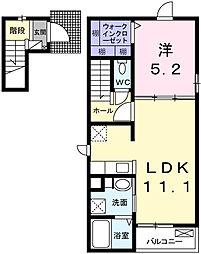 兵庫県姫路市大津区勘兵衛町1丁目の賃貸アパートの間取り