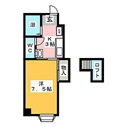 サンチェリヰマンションニシハル[2階]の間取り