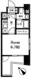 東京都江東区木場3丁目の賃貸マンションの間取り