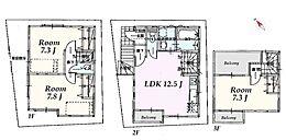 建物参考プラン:間取り/3LDK、延床面積/81.40m2、建物参考価格/1800万円(税込)