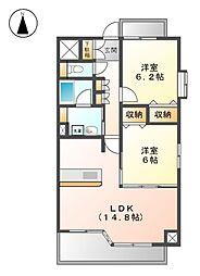 BLANCHUR JYOUSAI[3階]の間取り