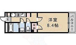 阪急京都本線 総持寺駅 徒歩14分の賃貸アパート 1階1Kの間取り