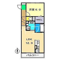ディアコート・フジ[3階]の間取り