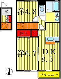 ブラックパール[2階]の間取り