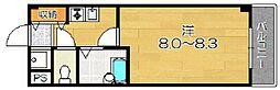 ブランベージュ桂[1階]の間取り