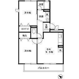 アベニュー B棟[3階]の間取り