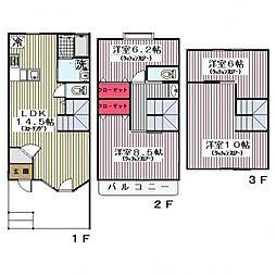 [テラスハウス] 神奈川県川崎市宮前区水沢3 の賃貸【/】の間取り