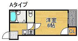 コーポドリーム[4階]の間取り