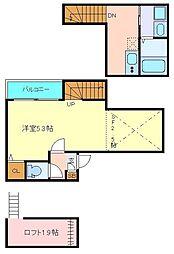 仙台市営南北線 北仙台駅 徒歩9分の賃貸アパート 1階1SKの間取り