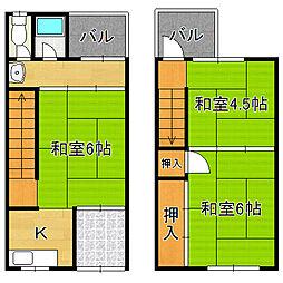 [一戸建] 大阪府大阪市平野区加美北6丁目 の賃貸【/】の間取り