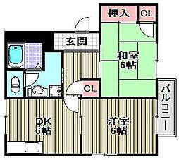フォーレス千代田[2階]の間取り