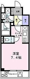 東京都目黒区柿の木坂1丁目の賃貸マンションの間取り