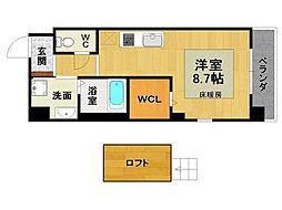ラフィーネ伊丹5[4階]の間取り