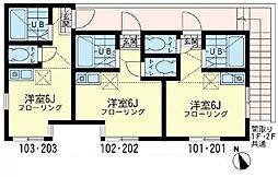 プロスペリティ川崎[1階]の間取り
