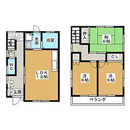 [テラスハウス] 愛知県一宮市篭屋1丁目 の賃貸【愛知県 / 一宮市】の間取り
