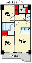ニューシティアパートメンツ南小倉 I[3階]の間取り