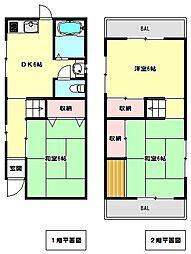 [一戸建] 兵庫県神戸市垂水区福田2丁目 の賃貸【/】の間取り