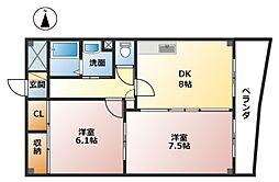 ゴールドハウス[3階]の間取り