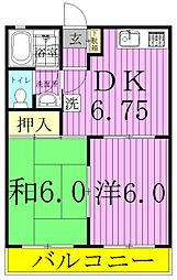 カ−サ・オランジェ[202号室]の間取り