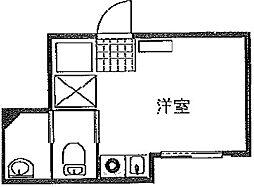 東京都豊島区池袋4丁目の賃貸アパートの間取り