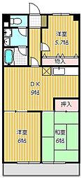 シャンクレル[4階]の間取り