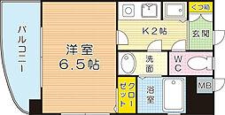 福岡県北九州市小倉北区下到津1丁目の賃貸マンションの間取り