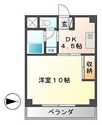 グリーンハイツ徳川[1階]の間取り