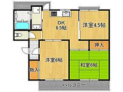 新賀暁マンション[1階]の間取り