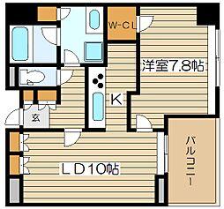 アーデンタワー福島ウエスト[12階]の間取り