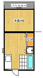 崎村ビル[2号室]の間取り