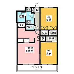 entrain(アントラン)[3階]の間取り