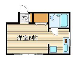 岡村アパート[2階]の間取り