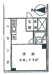 シャンゼール高尾[506号室]の間取り