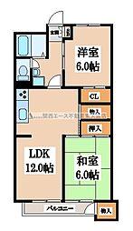 八戸ノ里グランドマンションA棟[10階]の間取り
