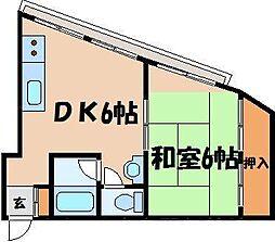 広島県広島市東区東蟹屋町の賃貸マンションの間取り