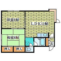 清田サンハイムH[2階]の間取り