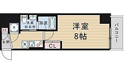 プリエールTAT江戸堀 9階1Kの間取り