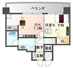 サンレムート江坂Second[8階]の間取り