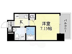 Osaka Metro御堂筋線 江坂駅 徒歩4分の賃貸マンション 9階1Kの間取り