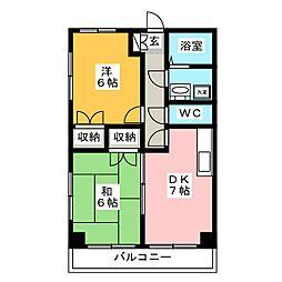 東峰マンション吉塚I[3階]の間取り