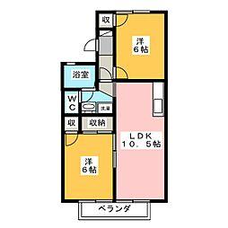 ハイムラマージュ[2階]の間取り