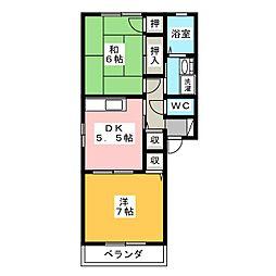 フォーレス中小田井[1階]の間取り