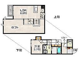 CB箱崎パルク(シービー箱崎パルク)[2階]の間取り