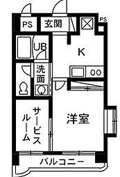 シルクマンション[302号室]の間取り