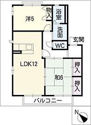 ヴェルドミール葵C棟[1階]の間取り